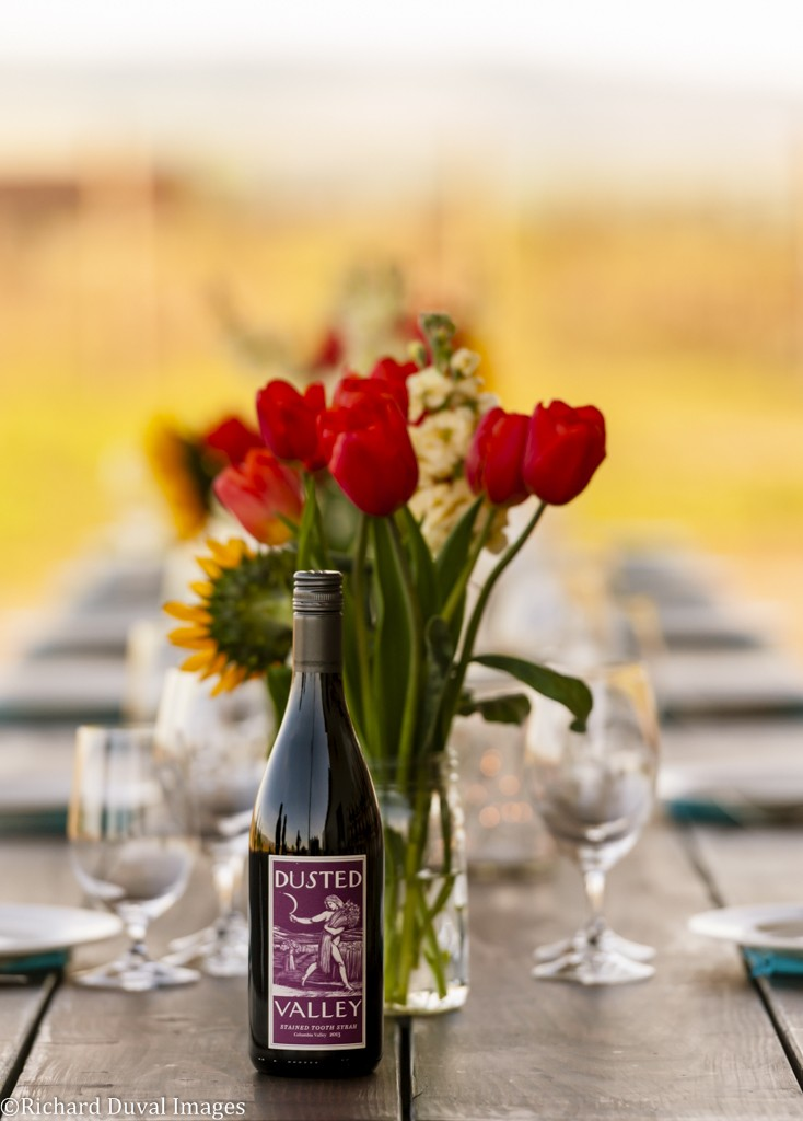 Stained Tooth Syrah and flowers